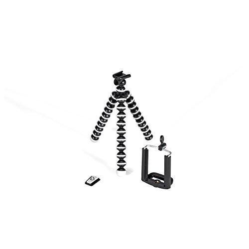 GPX 7 Inch Micro Smartphone Tripod, Includes Smartphone Adapter and Mounting Adapter, Max Height 6.1 Inches (TPD78B)