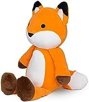 Avocatt Orange Huggable Fox Plush - 10 Inches Stuffed Animal Plushie - Hug and Cuddle with Squishy Soft Fabric