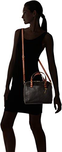 Black Satchel Damen Nero Rachel Donna Fossil Borse secchiello Tasche a ORzW4