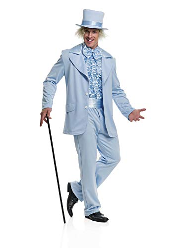 Charades Men's Funny Tuxedo Costume, Blue, Large