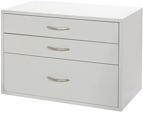 Organized Living freedomRail 3 Drawer OBox - White by Organized Living