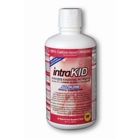 DRUCKER LABS IntraKID - Organic, Liquid, Trace Minerals, Multivitamin and Multi-Nutritional Dietary Supplement For Children  (32 Ounce / 946 Milliliter, Raspberry Flavor)