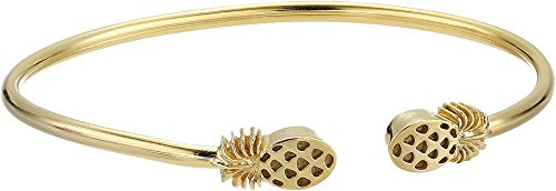 Alex and Ani Women's Pineapple Cuff Bracelet 14kt Gold Plated One Size made in Rhode Island