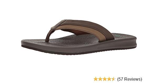 Sanuk Brumeister Charcoal Men/'s Casual Flip Flop Sandals 1015944