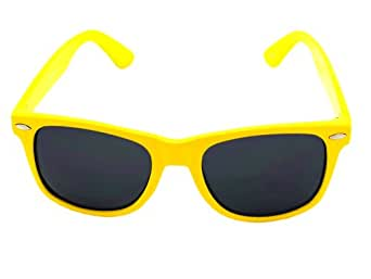 Vintage Yellow Wayfarer Style Sunglasses - 15 Colors (Red, White, Black, Pink...