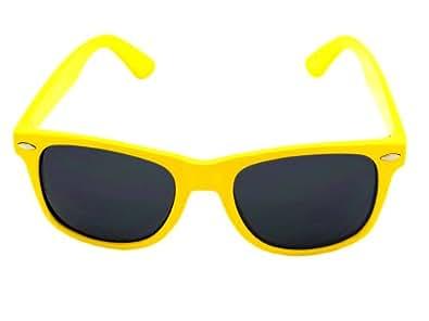 Vintage Wayfarer Style Sunglasses - 15 Colors Dark Lenses Yellow Pastel