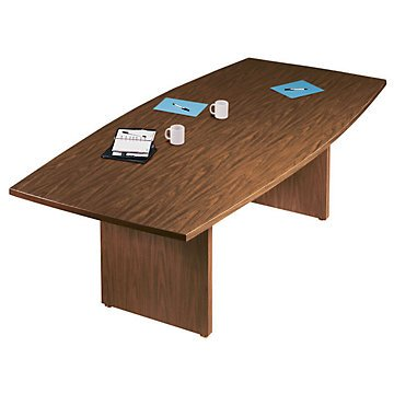 Amazoncom X BoatShaped Conference Table Walnut - 120 conference table