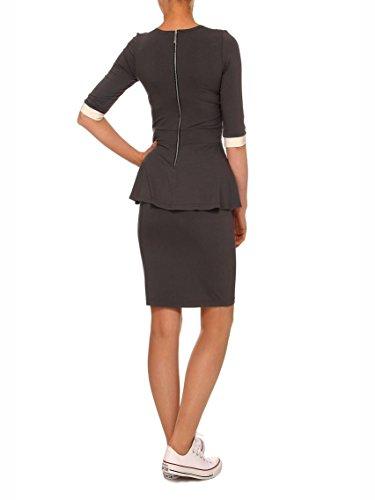 YULIYA BABICH fashion designer - Camisas - Túnica - para mujer RAL7043-9016; Grapfit - Ecru