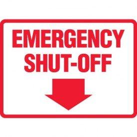 Emergency Shut Off 3M Sticker Sign