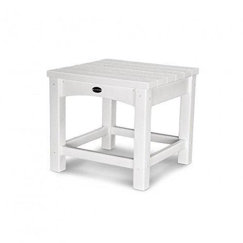POLYWOOD CLT1818WH Club 18'' Side Table, White by POLYWOOD
