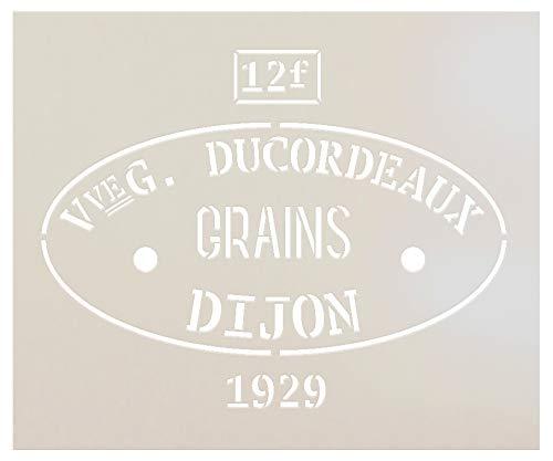 (Feed Sack Art Stencil by StudioR12 - Ducordeaux Dijon Grains | Reusable Mylar Template | Use to Paint Wood Signs - Pillows -Fabric - Furniture - Feed Sack - DIY Country Decor - SELECT SIZE (12