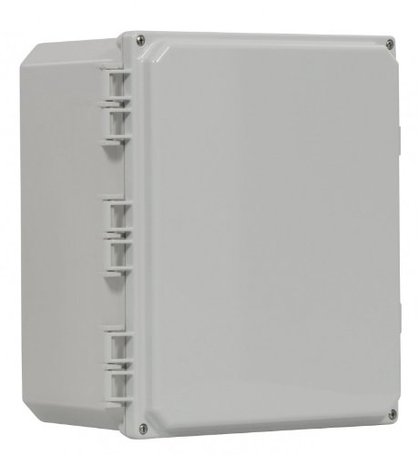 Polyguard 16x14x7-HCSF Polycarbonate Enclosure, Hinged Clear Cover - Screw Close - Mounting Feet