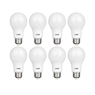 LUNO A19 Non-Dimmable LED Bulb, 6.0W (40W Equivalent), 450 Lumens, 5000K (Daylight), Medium Base (E26), UL Certified (8-Pack)