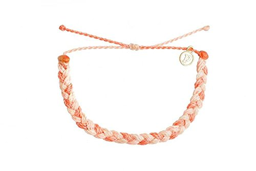 Pura Vida Coral Reef Braided Bracelet - Handcrafted Gold-Coated Charm, Adjustable Band...