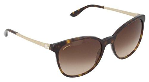 Bvlgari Women's BV8160B Sunglasses Dark Havana/Brown Gradient 54mm