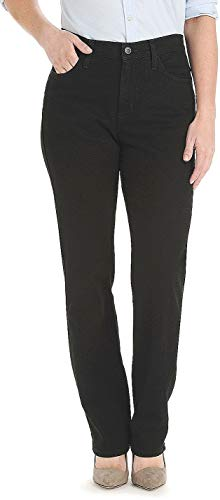 LEE Women's Relaxed Fit Straight Leg Jean, Authentic Black, 12 Long (Fit Authentic Jean)