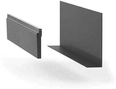 Barandilla de cristal con perfil de suelo, barandilla de cristal, barandilla de balcón de aluminio A50, kit de montaje para cristal de 17,50 mm (juego de cuña de 1 m): Amazon.es: Bricolaje