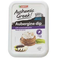 Roasted Eggplant Dip (Eggplant Authentic Greek Spread - pack of 2 - 7 oz)
