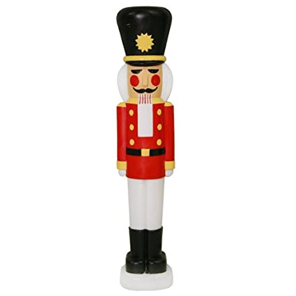 lighted light up christmas indooroutdoor yard or lawn decorations nutcracker - Christmas Lawn Decorations Amazon