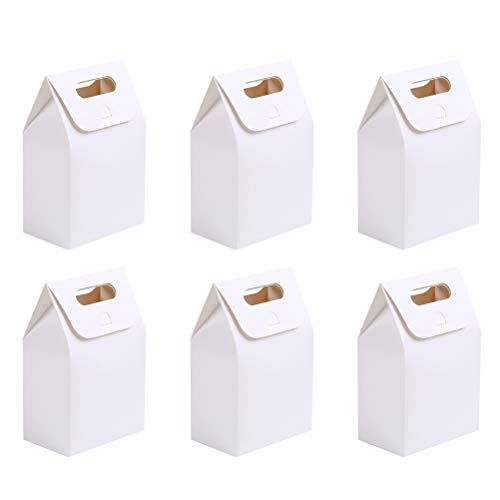 Toyvian Bolsas de papel portátiles blancas, caja de embalaje ...