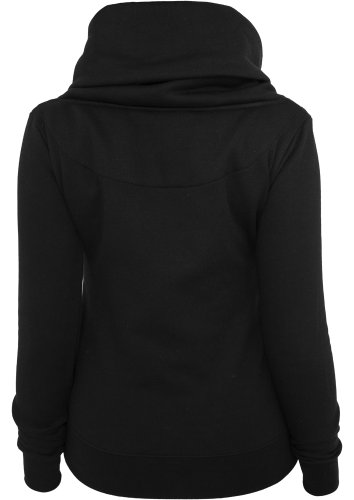 Urban Classics TB747 Ladies Asymetric Zip Jacket Regular Fit Woman XL Black Nero