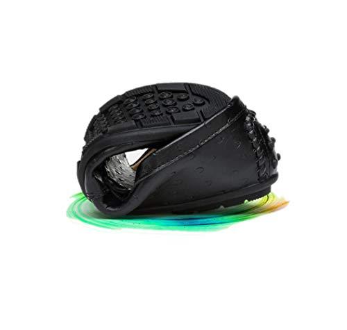 Sportivi Sandali Stivali Black Scarpe Tondo Punta Tela Colore Morbido Pelle in Nastro Uomo Affari A Stagione Casual ZqSwR61OxZ