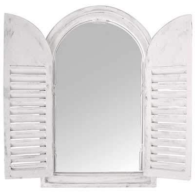 (Esschert Design White Window Frame w/French Doors)