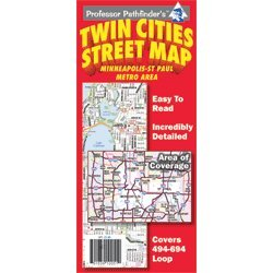 Twin Cities Street Map (494/694 loop) (Cities Map Street Twin)