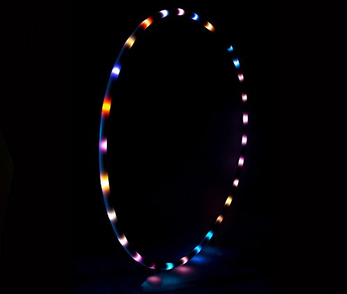 LED Hula Hoop 36'' Multi Color EL Lighting Perfect for Festivals and Rave - 28 Color Changing LED - Plain White No Wrapping by Rave Raptor (Image #6)