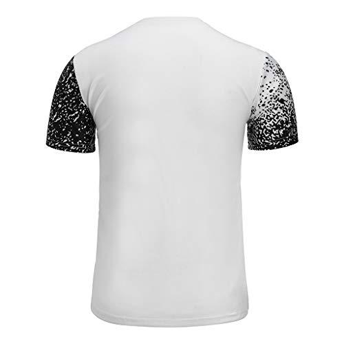 Marlene1988 Camisetas Hombre Manga Corta Básica tee Shirt Casual Estampada de Letras Cuello Redondo Rocks Top Slim Fit Fitness Polos Sudadera Deportiva ...