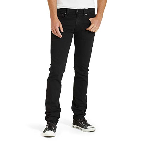Levi's Men's 511 Slim Fit Jean, Black - Stretch, 29W x 32L