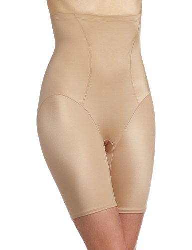 Bali Women's Shapewear Cool Comfort Hi-Waist Thigh Slimmer, Nude, Medium