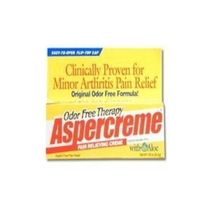 - Aspercreme Odor Free Therapy Pain Relieving Creme With Aloe - 1.25 oz. (Pack of 6) by Aspercreme
