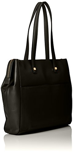 Piquadro Shopping Bag Collezione Andromeda Borsa a spalla, Pelle, Nero, 34 cm