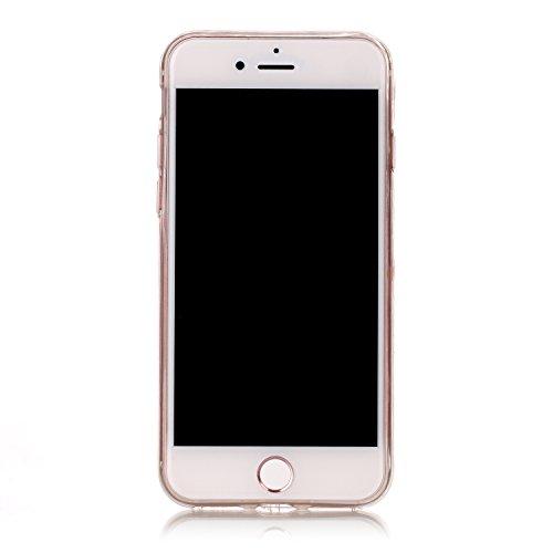 iPhone 8 Hülle,Weißer Baum Premium Handy Tasche Schutz Transparent Schale Für Apple iPhone 8 + Zwei Geschenk