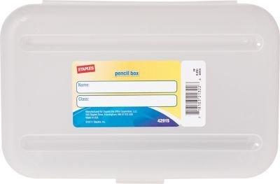 Staples Pencil Box, Translucent (Clear Pencil Case)