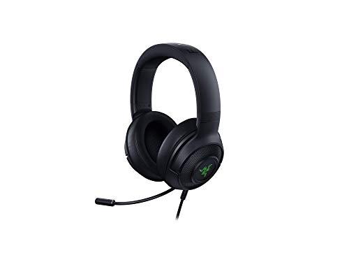 🥇 Razer Kraken X USB – 7.1 Auriculares con Sonido Envolvente Virtual con Compatibilidad Multiplataforma