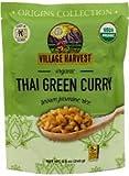 Village Harvest Microwaveable Organic Thai Green Curry Brown Basmati Rice 8.5 oz (Pack of 6)