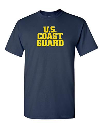 Coast Guard Military T-shirt - Got-Tee US Army Military US Coast Guard T-Shirt L Navy Blue