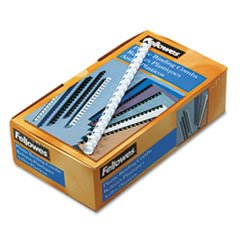 "Fellowes 52372 Plastic Comb Bindings, 1/2"" Diameter, 90 Sheet Capacity, White (Pack of 100 Combs)"