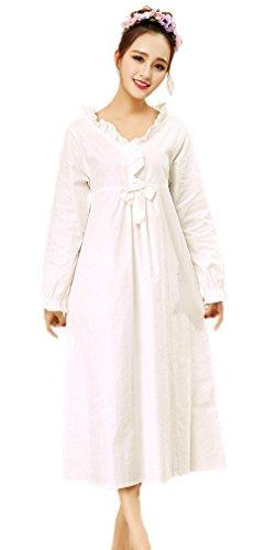 Soojun Womens Cotton Romantic Nightgowns