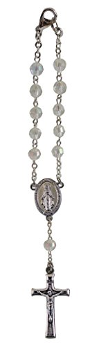 Cathedral Art April/Crystal Birthstone Car Rosary, 6 Inch...