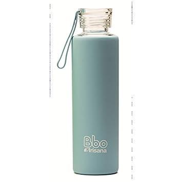 Irisana Botella reutilizable, de borosilicato, Bbo 550 ml. Con funda de silicona.