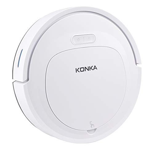 KONKA Robot Vacuum Cleaner with 1800Pa Super-Strong Suction,Automatic Self-Charging,for Pet Hair,Hard Floor and Medium Pile Carpets
