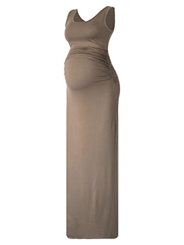 Women's Sleeveless Modal Maternity Maxi Dress Comfortable Ta