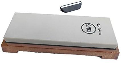 King japonés grano 1000/6000 Combinación piedra de afilar KW-65 y Naniwa QX-0010 guía de hoja de ángulo: juego de 2 productos-