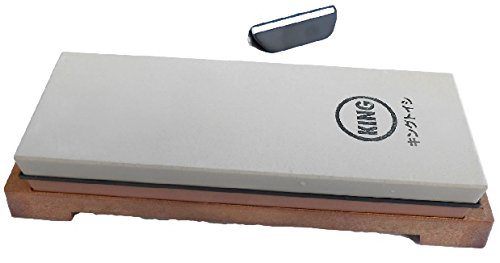 King Japanese Grit 1000/6000 Combination Sharpening Stone KW-65 and Naniwa QX-0010 Blade Angle Guide: Bundle - 2 Items