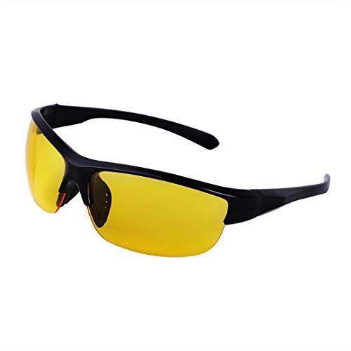 Pasybrelt Fashion Sunglasses Men Sport Sunglasses UV 400 Protection Golf Sun Glasses Women Driving Cycling Glasses Fishing Eyewear Black Yellow one Size