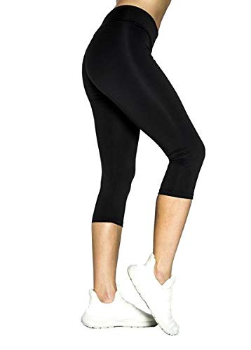 Lindissims Legging Eco-Sostenible Capri Black Smooth Mallas ...