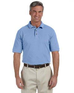 Harriton Men 6 oz Ringspun Cotton Piqué Short-Sleeve Polo 4XL Light College Blue